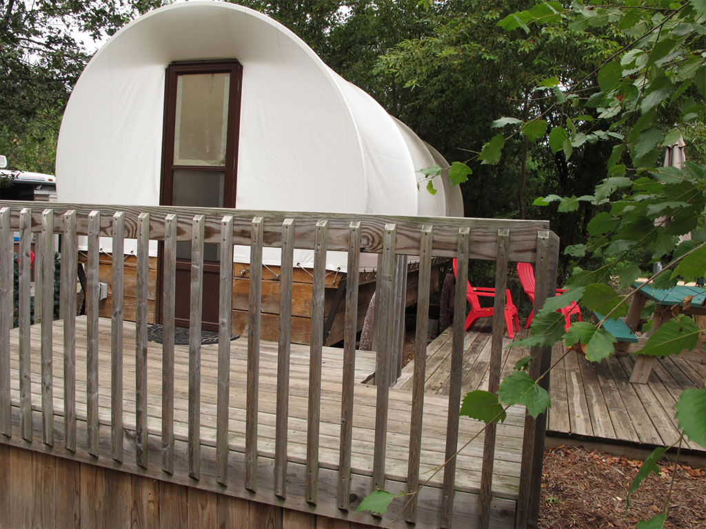 Covered Wagon Exterior Deck