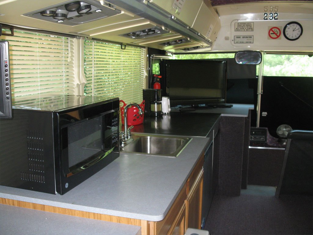 Motor Coach interior kitchen