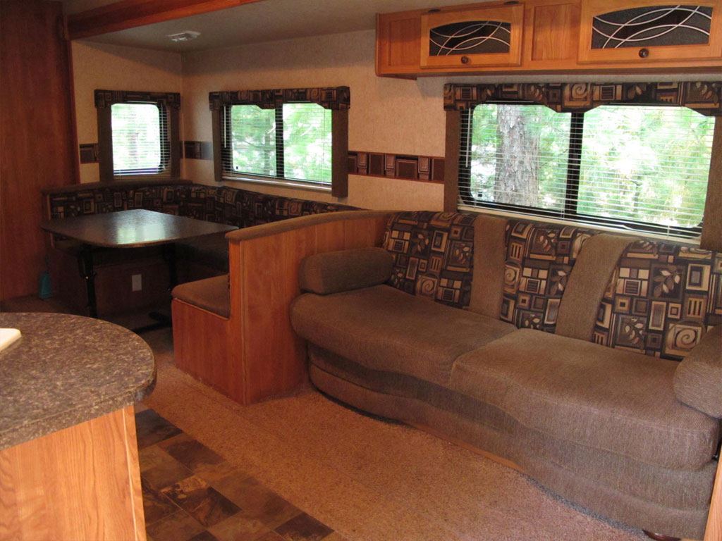 Travel Trailer Living and Dining Rooms