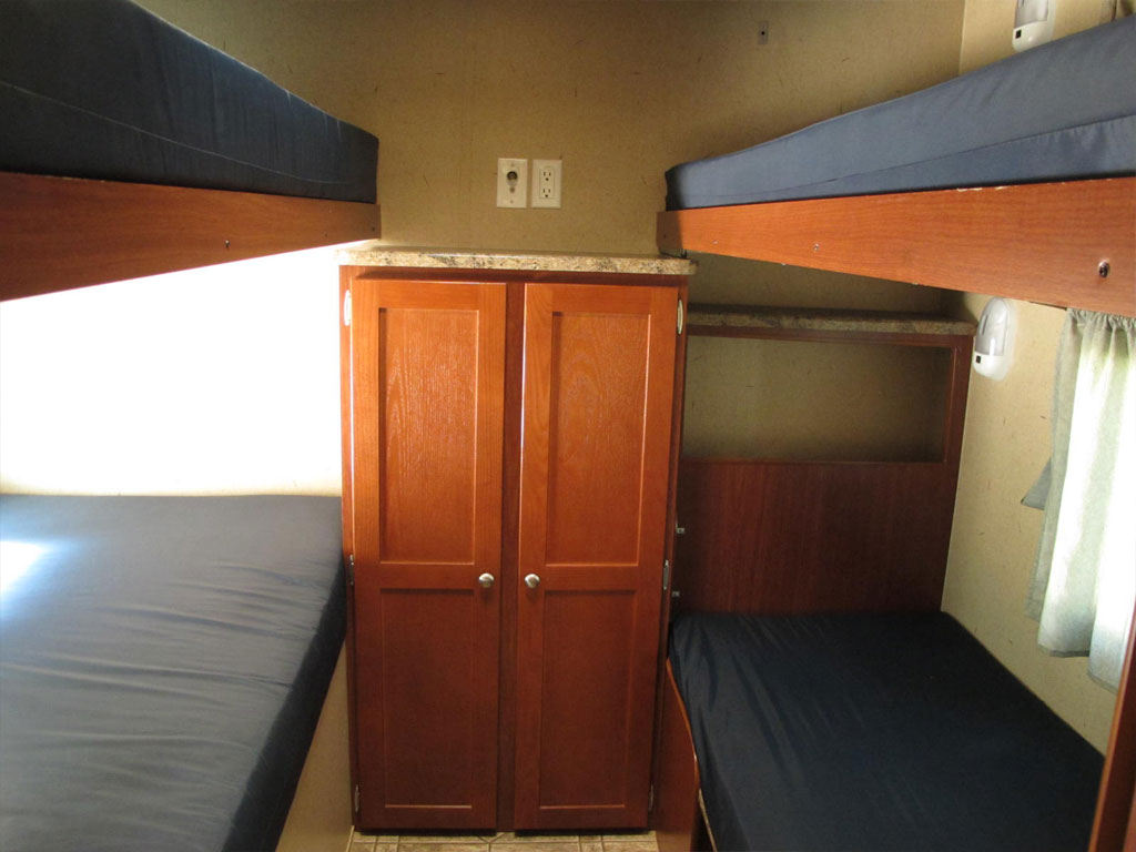 Bunk Room of Travel Trailer 110A