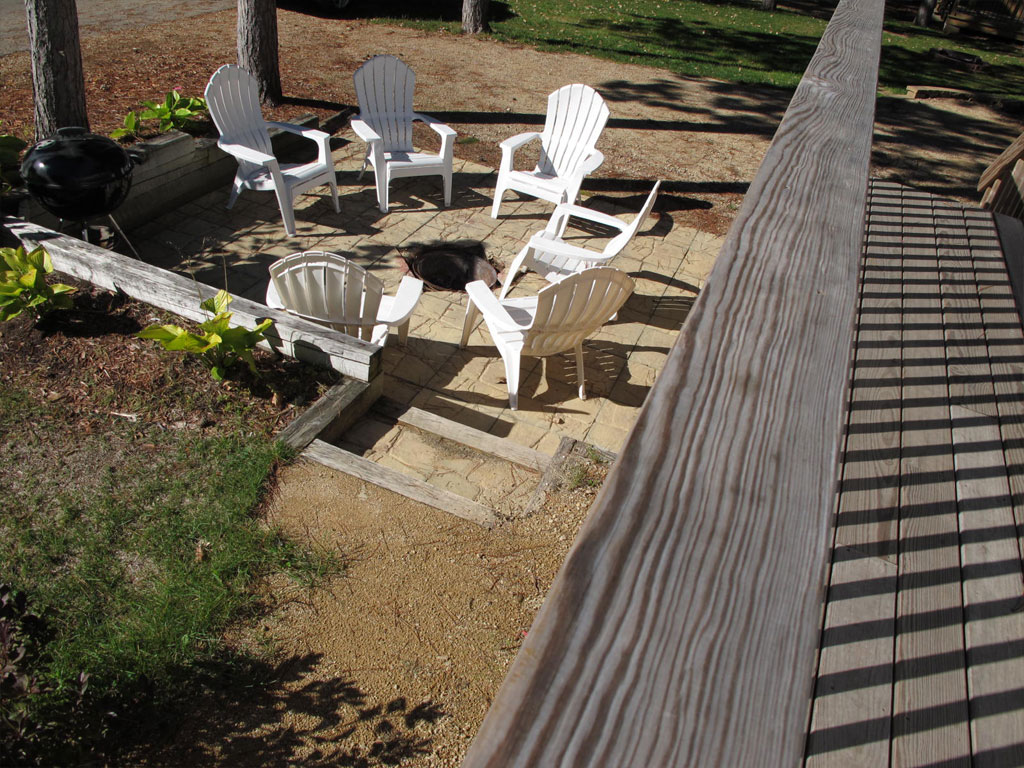 Fire pit of Travel Trailer 110A