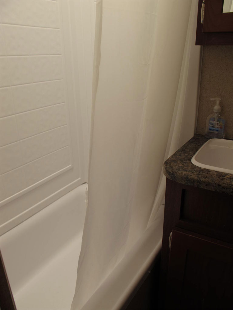 Shower of Travel Trailer 110A