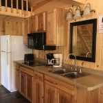 Smokey Hollow Deluxe Cabin Style 2 Interior Kitchen